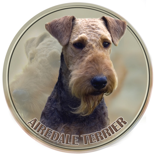 Airedale Terrier Car Window Sticker